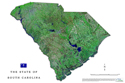 South Carolina satellite map